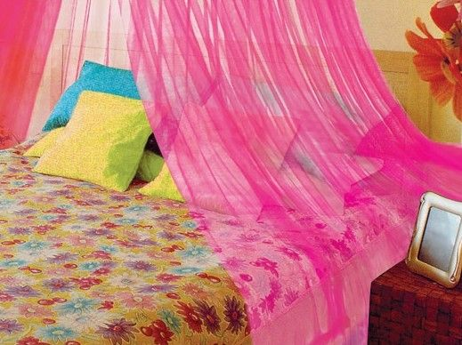 Pink Canopy Bed Netting by Kathy Ireland | Pink! | Pinterest | Pink ...
