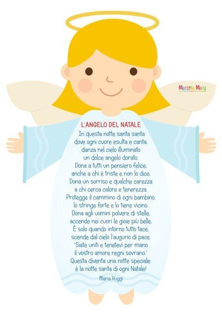 Poesie Di Natale Da Colorare.L Angelo Del Natale Picture Natale Bambini Di Natale E