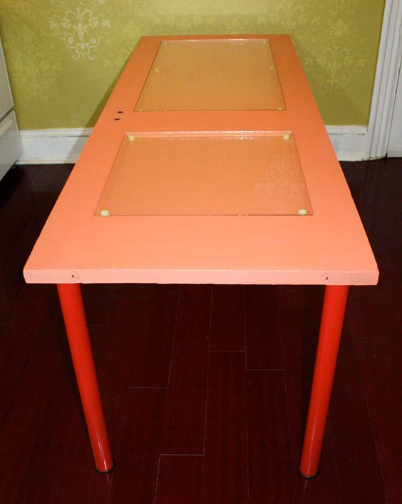 """you'll """"adore"""" this door turned kitchen table project!"""