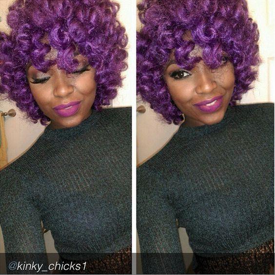 Crochet Braids Purple And Black : Braids, Crochet braids and Crochet on Pinterest