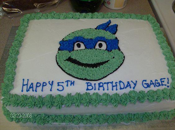 teenage mutant ninja turtle cakes   Teenage Mutant Ninja Turtle character cake   Flickr - Photo Sharing!