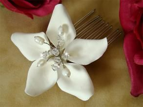 @Meggan Elizabeth - Orchid and Pearl Haircomb? Maybe for your hair? Very Hawaii. - bravobride