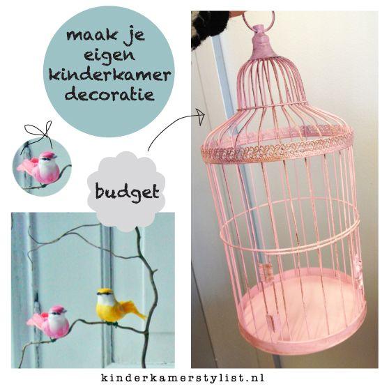Diy vogelkooi versieren als decoratie voor de baby kinderkamer for Kinderkamer deco