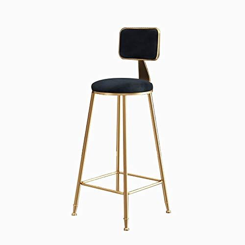 X Lfc Bar Stools Soft Velvet Seat Bar Chairs With Backrests