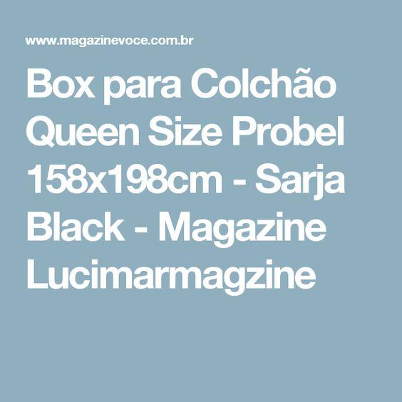 Box para Colchão Queen Size Probel 158x198cm - Sarja Black - Magazine Lucimarmagzine