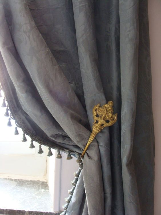 Antique Curtain Holders Ormolu. French Late 1800's Makers mark ...