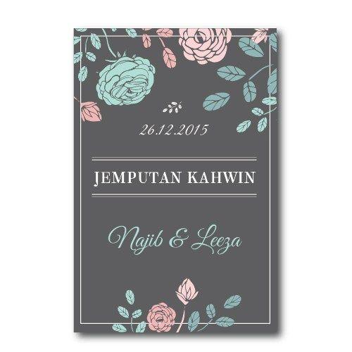 Kad Kahwin Floral 58 Chantiqs Kad Kahwin Kad Kahwin Wedding Invitation Cards Wedding Cards