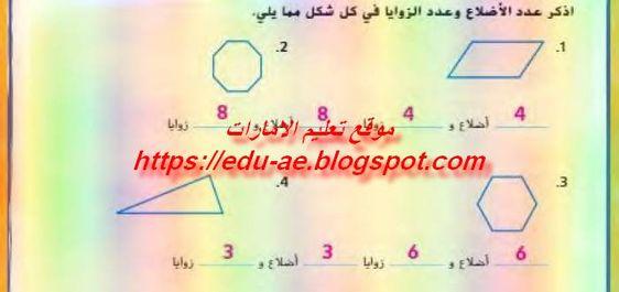 حلول كتاب الرياضيات للصف الخامس الفصل الدراسى الثالث2019 Math Books Math Equations
