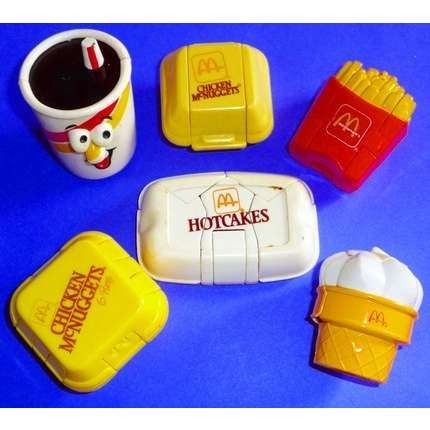 Vintage 80's McDonald's happy meal toys.