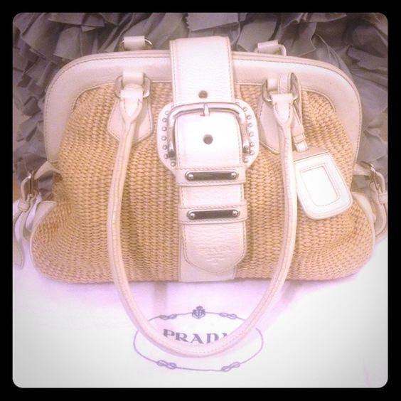 Prada Paglia Vitello Daino Bag ??SALE?? | Inside Bag, Prada Bag ...