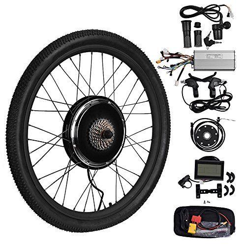 "LCD 1000W 48V Elektro Fahrrad Umbausatz 26"" E-Bike Conversion kit Hinterrad BEST"