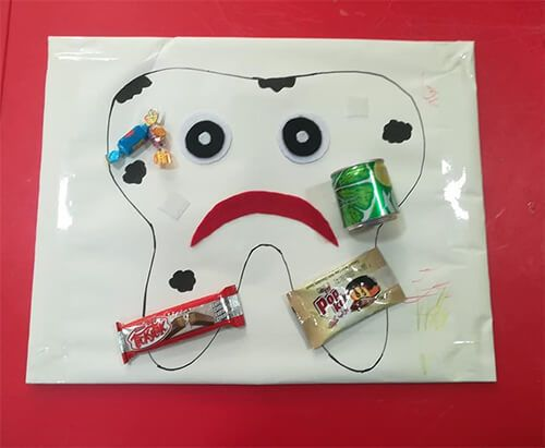 وسائل تعليمية عن نظافة الاسنان للاطفال أفكار مجسمات اسنان بالعربي نتعلم Earbuds Electronic Products Headphones