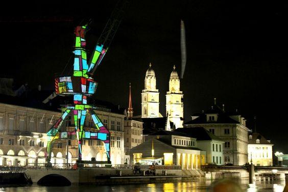 Love it or hate it: Zurich's harbour crane.