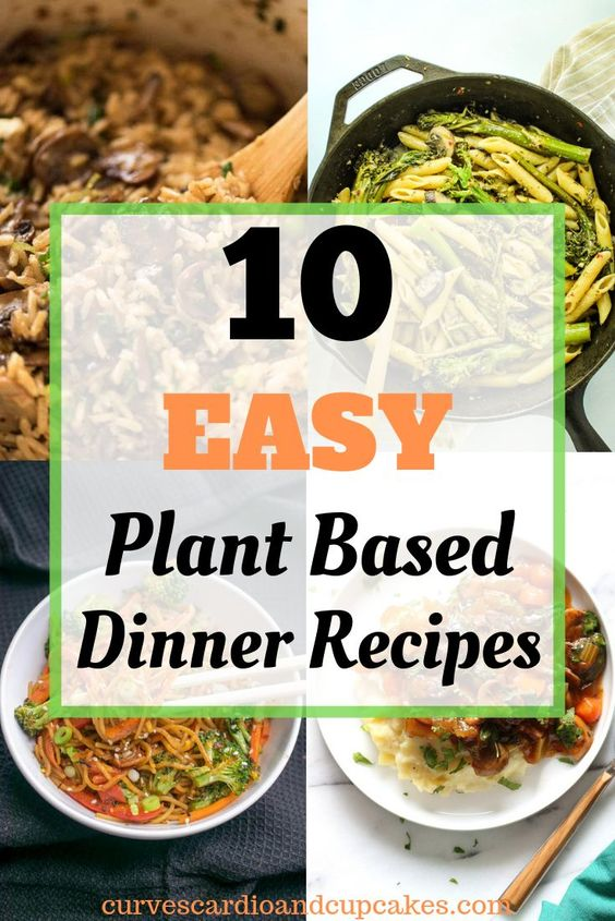 10 Delicious Plant Based Diet Dinner Recipes - Curves Cardio And Cupcakes