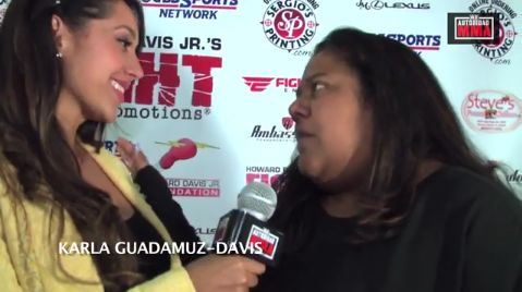 "(Video) Fight Time Promotions: Karla Guadamuz-Davis ""Voy a serguir con la legacia de mi esposo"""