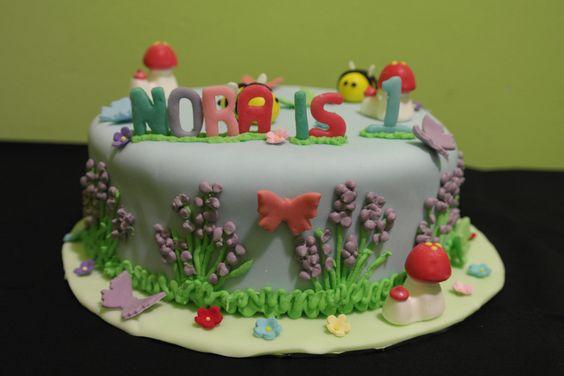 Garden themed customized cake
