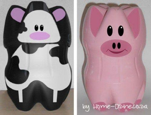 Adorable Diy Piggy Banks From Plastic Bottles Artesanias De
