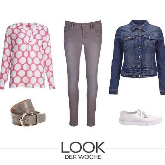 Unser Look der Woche vereint zwei wichtige Trends 2014: Jeans und Muster!