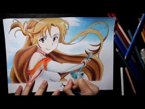 Drawing/Dibujando a Asuna(Sword Art Online)HD **ESPECIAL 500** SUSCRIPTORES - YouTube