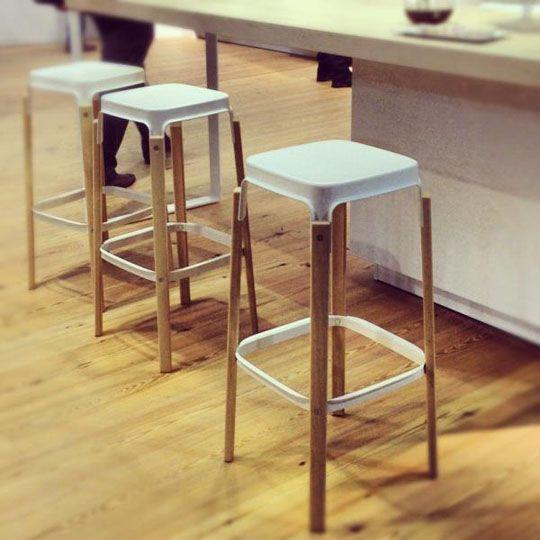 love these stools - Steelwood Stools designed by Ronan & Erwan Bouroullec for Magis (via apartment therapy)