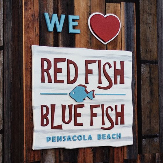 Red fish blue fish is the newest outdoor waterfront for Red fish blue fish pensacola