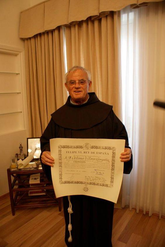 Fray Artemio Vítores, el Embajador de la Custodia de los lugares santos. Lleva mas de 40 años en Israel sirviendo a los peregrinos y a su Comunidad franciscana.