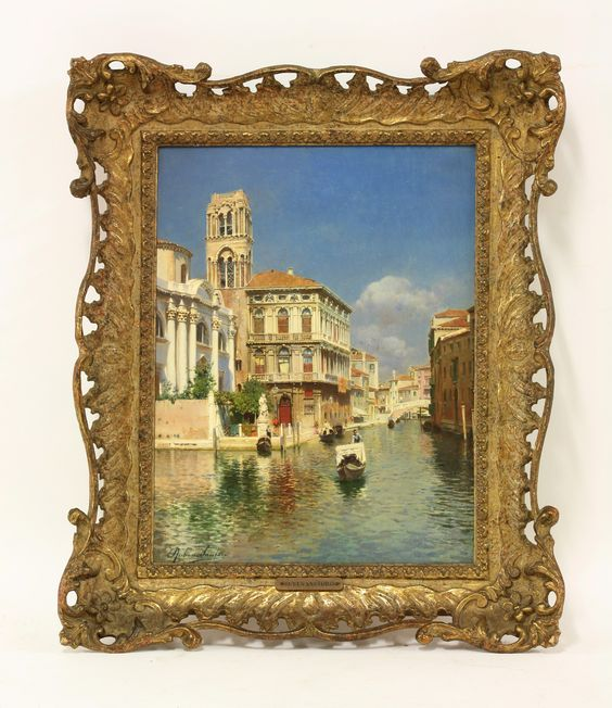 Rubens Santoro (Italian 1859-1942), THE CANNAREGIO, VENICE, WITH THE PALAZZO LABIA Signed l.l., oil on canvas Sold for £43,000 19th November 2013: