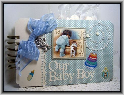 Baby Book with Little Darlings Graphic 45 paper