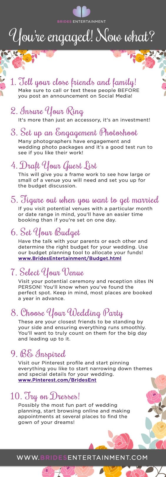 You're Engaged? Now What? Follow our guide for steps after your engagement!