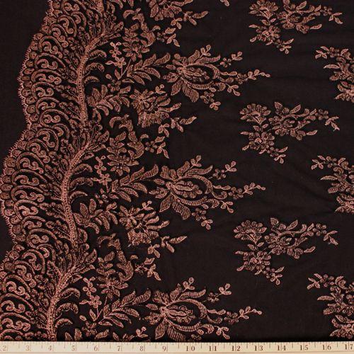 Alencon Lace (Brown/Black) - Click Image to Close