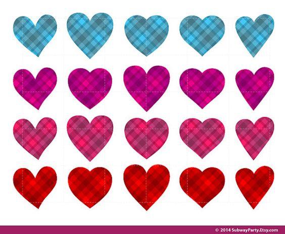 Hot Pink Hearts Clip Art