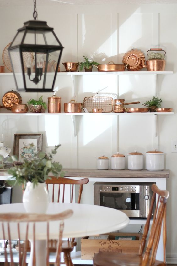 Copper accents.