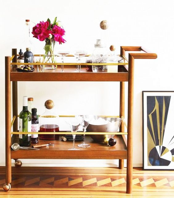 10 stylish bar carts to lift your spirits bar instagram and living rooms. Black Bedroom Furniture Sets. Home Design Ideas