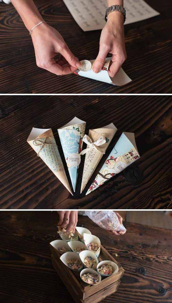 как сделать конфетти на свадьбу и праздник