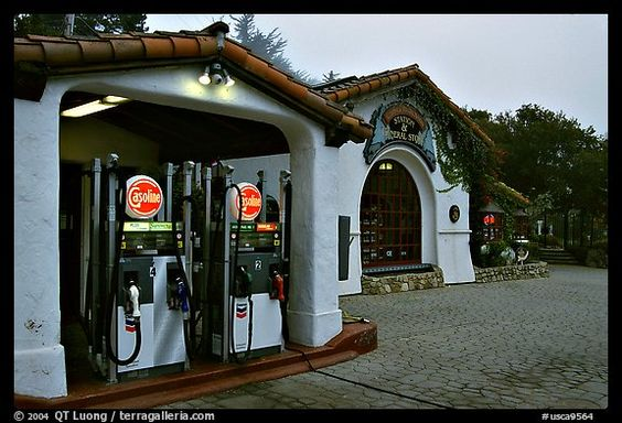 Gas station, highway 1. Carmel-by-the-Sea, California, USA