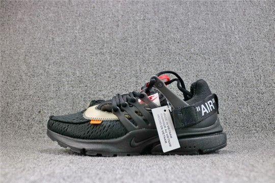 Off white shoes, Nike air presto black