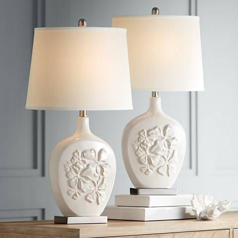 Ewan Ivory Ceramic Table Lamp Set Of 2 34n16 Lamps Plus Lamp Sets Table Lamp Sets Ceramic Table Lamps