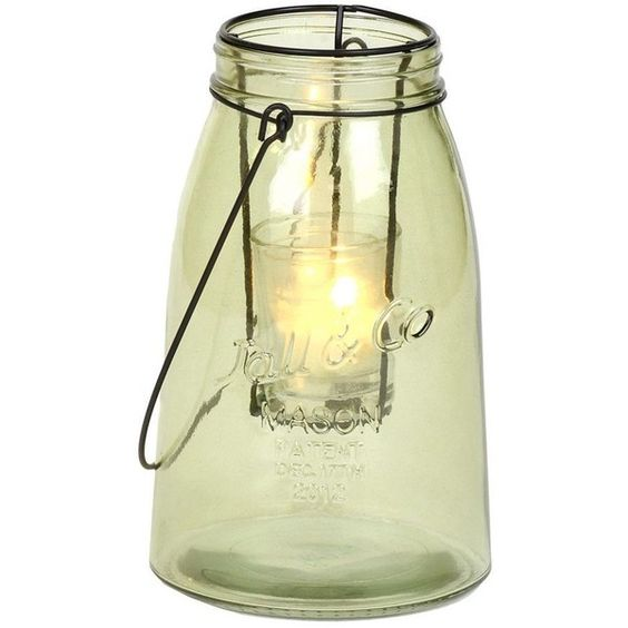 Small Green Glass Lantern (14 BAM) ❤ liked on Polyvore featuring home, home decor, candles & candleholders, filler, lantern, lights, black tealight candles, black lantern, black candles and black home decor