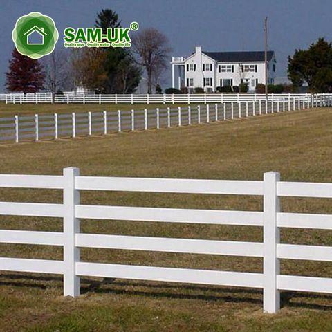 16 Ft 4 Rail Vinyl Horse Fencing Cost Effective Vinyl Fence Horse Fencing Vinyl Picket Fence