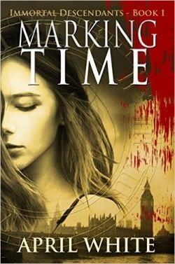 http://bookbarbarian.com/marking-time-the-immortal-descendants-book-1-by-april-white-2/ - Seventeen-year-old tagger Saira Elian can handle anything … a mother who mysteriously disappears, a stranger who stalks her around London, and even the noble English grandmother who kicked Saira and her mother out of the family. But when an old graffiti tag in a Tube station transports Saira to the nineteenth century and she comes face-to-face with Jack the Ripper, she realizes she nee
