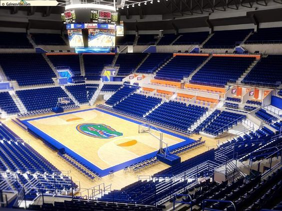 Florida Gator basketball - The O'Connell Center - Gainesville, FL -- LOVE this place!