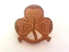 Vintage Pin with 3 Leaf Clover w G G on it GIRL GUIDES