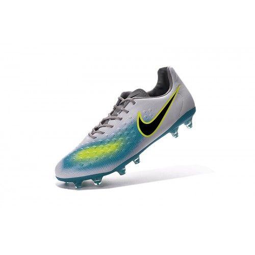 brand new 39676 92ee4 Salg Nike Magista Fodboldstøvler - Købe Nike Magista Orden II FG Hvid Blå  Gul Sort Herre Fodboldstøvler