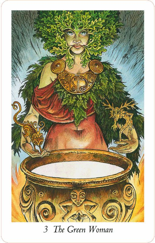 The Green Woman (The Empress) From The Wildwood Tarot
