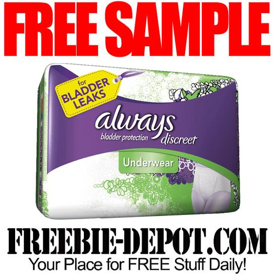 ►► FREE SAMPLE - Always Discreet Underwear & Liner Sample Packs ►► #Free, #FREESample, #FREEStuff, #Freebie ►► Freebie-Depot