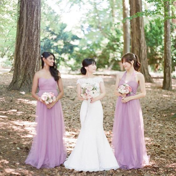 fabulous vancouver wedding The Bride's timeless lace @verawanggang complimented by these stunning mauve palette of @jennyyoonyc's Annabelle dresses | Photo by @nadiahungphotography | Make Up by @carolhungmakeup | Hair by @jadekugelmanhair | Venue @rwhotelgeorgia #jennyyoobridal #mauve #destinationwedding #verawang #blush #heirloom #lace by @chandelierwedding  #vancouverwedding #vancouverwedding
