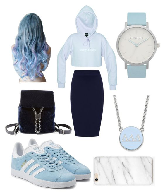 """""""Cute blue"""" by johanna-rayne-lumberjack ❤ liked on Polyvore featuring WearAll, adidas Originals, The Horse, Steve Madden and LogoArt"""
