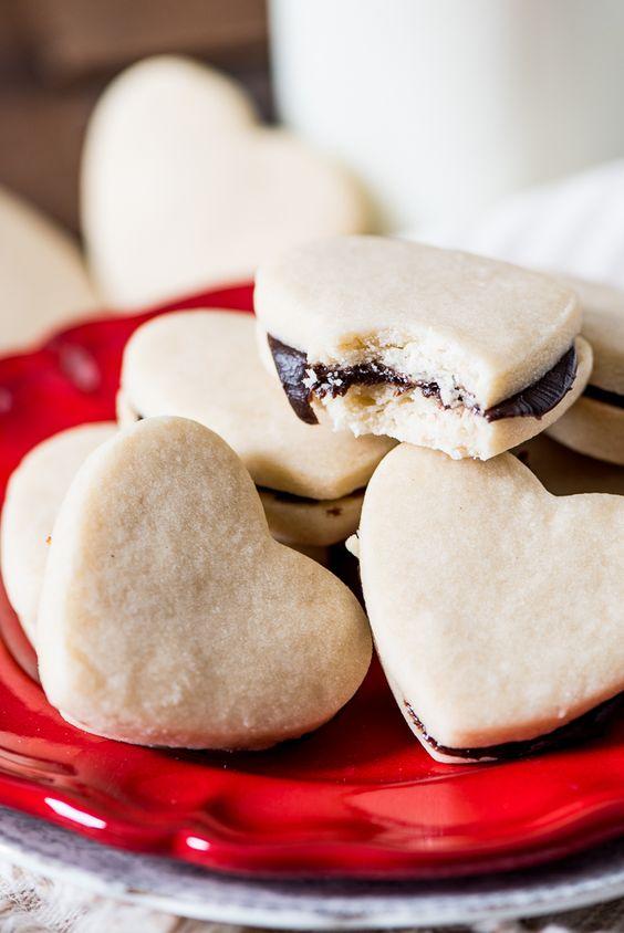Chocolate ganache, Shortbread cookies and Heart cookies on Pinterest