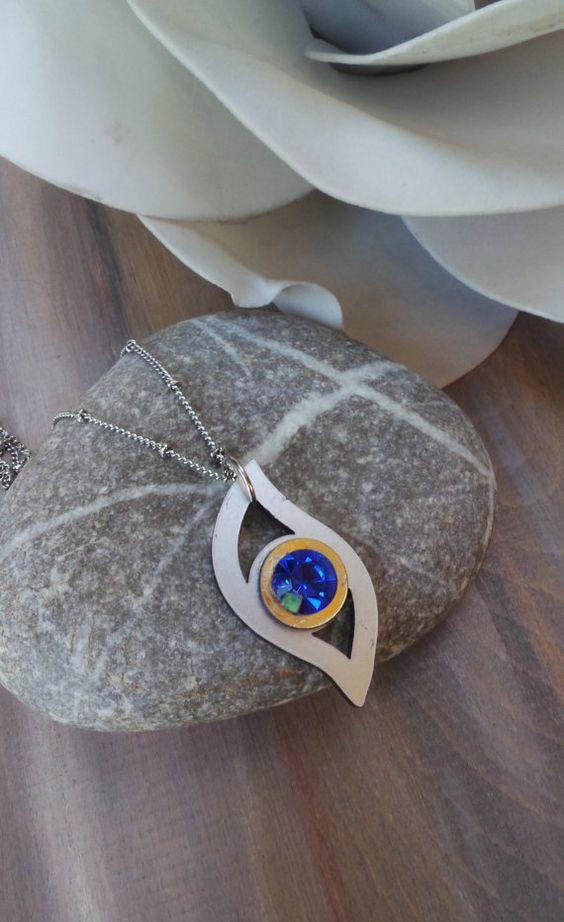 Eye pendant necklace. Evil eye necklace. by AllAboutEveCreations