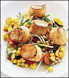 Grilled Sea Scallops with Corn Salad | Recipe | Grilled Sea Scallops ...